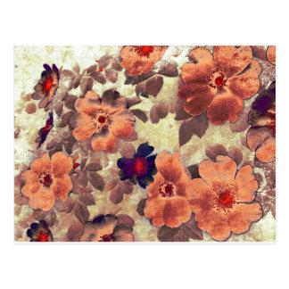 Vintage Rose Hips Postcard