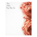 Vintage Rose I Letterhead Template