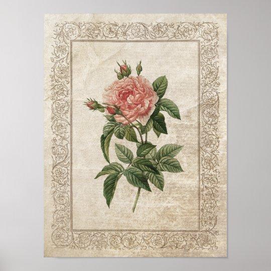 Vintage Rose I poster