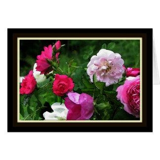 Vintage Rose Impressions Card