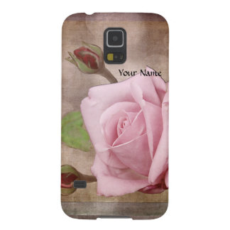 Vintage Rose in Pink Galaxy S5 Cases