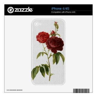 Vintage Rose iPhone Skin Template iPhone 4S Skins