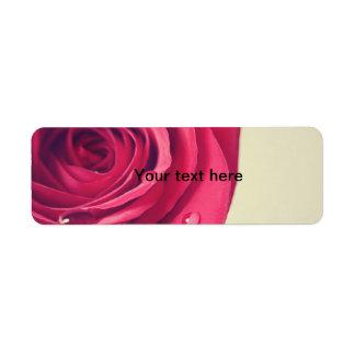 vintage rose label