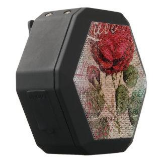 Vintage Rose Love you Black Bluetooth Speaker