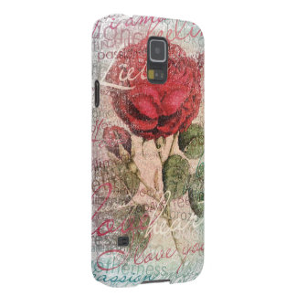 Vintage Rose Love you Galaxy S5 Cover