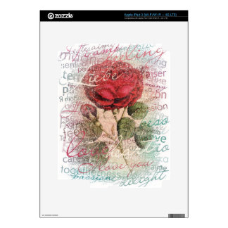 Vintage Rose Love you iPad 3 Skins