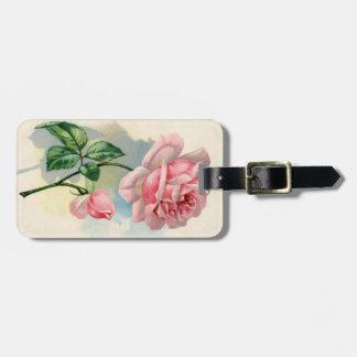 Vintage Rose Luggage Tag