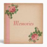 Vintage Rose Memories Binder