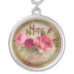 Vintage Rose 'Mom' Necklace