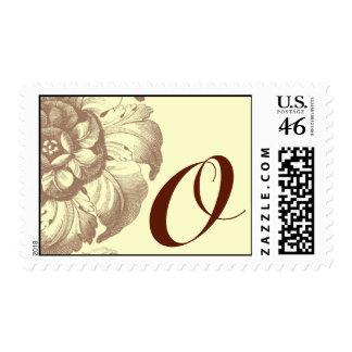Vintage Rose Monogram O Stamp