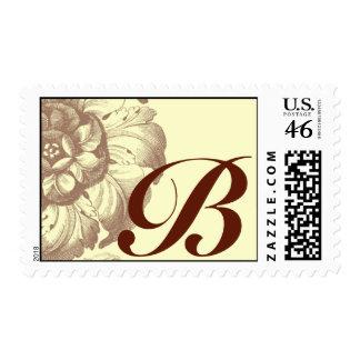 Vintage Rose Monogram Stamp