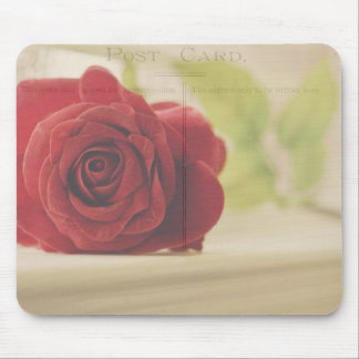Vintage rose mouse pad