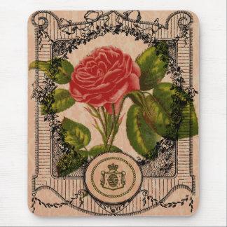 Vintage Rose Mouse Pad