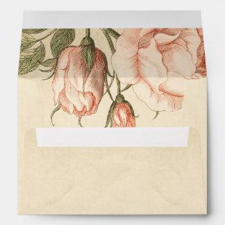 vintage rose old envelopes for wedding invitations
