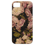 vintage rose on aged paper -i-phone case iPhone 5 case