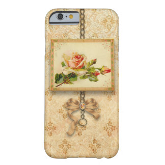 Vintage Rose on Damask Barely There iPhone 6 Case