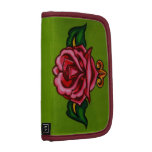 Vintage Rose painting -customize with your name Folio Planners