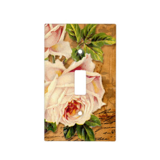 Vintage Rose,Peach, Shabby Chic, Switch Plate