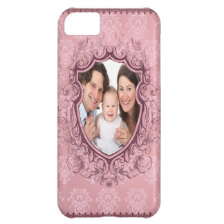 vintage rose personalized photo iphone 5 case
