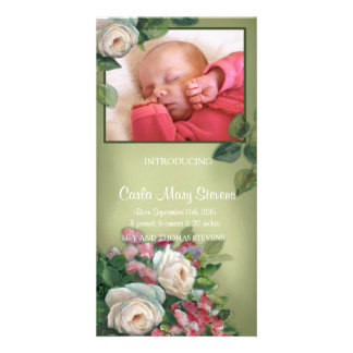 Vintage Rose Photo Card
