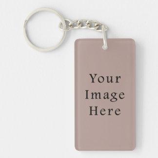 Vintage Rose Pink Color Trend Blank Template Keychain