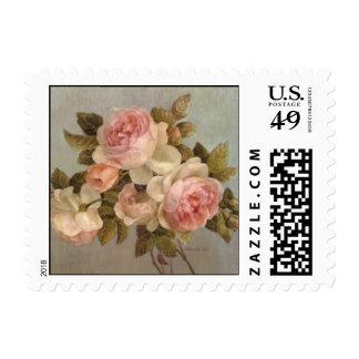 Vintage Rose Postage