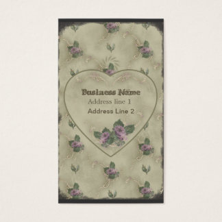 Vintage Rose Powderbox Print Business Card