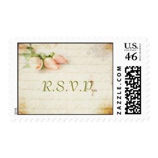 Vintage Rose R.S.V.P. Postage