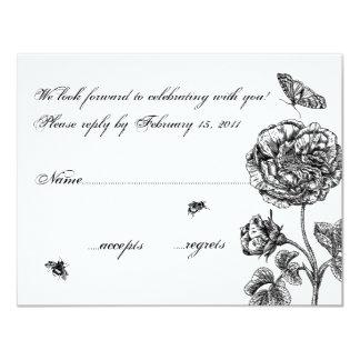 Vintage Rose RSVP Card