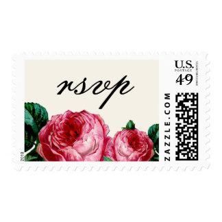Vintage Rose RSVP Postage