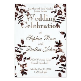 Vintage Rose Rustic Wedding Card