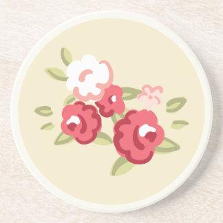 Vintage Rose Sandstone Coaster