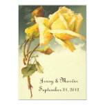 Vintage Rose Save the Date 5x7 Paper Invitation Card