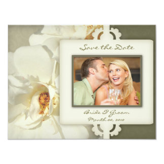 Vintage Rose Save the Date Photo Cards
