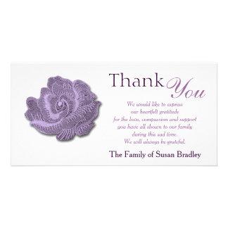 Vintage Rose Sympathy Thank You Photo Card