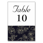 Vintage Rose Table Number