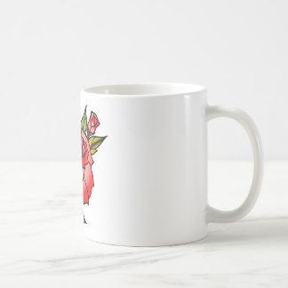 vintage rose tattoo coffee mug