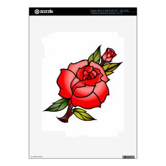 vintage rose tattoo iPad 3 skin