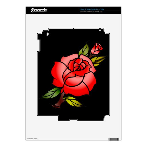 vintage rose tattoo skin for the iPad 2
