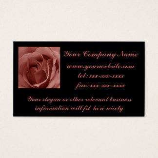 Vintage Rose Template Business Card