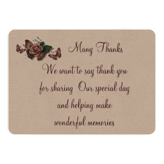 Vintage Rose Thank you card