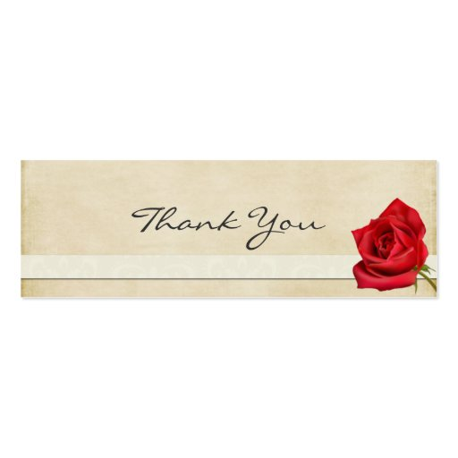 Vintage Rose Thank You Note Business Card Templates Zazzle