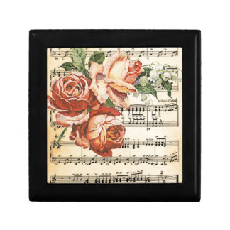 Vintage Rose Trio & Music Gift Box