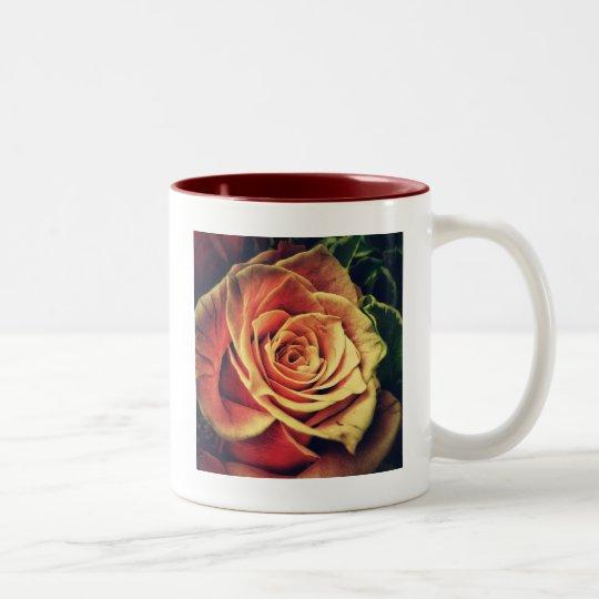 Vintage rose Two-Tone coffee mug