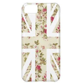 Vintage Rose Union Jack British(UK) Flag iPhone 5C Case
