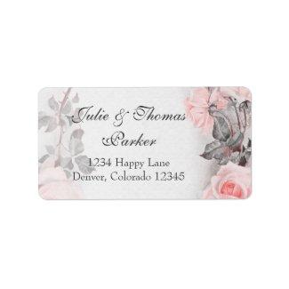 Vintage Rose Wedding Address Labels label