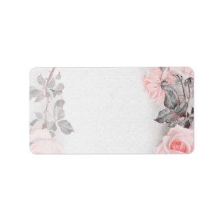 Vintage Rose Wedding Blank Address Labels label