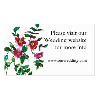 Vintage rose wedding card business card