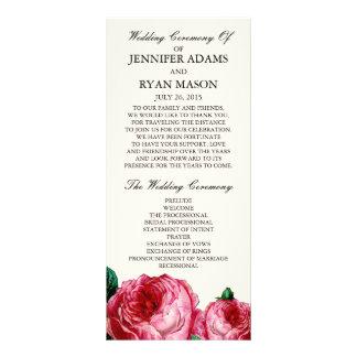 Vintage Rose   Wedding Program Rack Card
