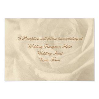 Vintage Rose Wedding Reception Enclosure Card